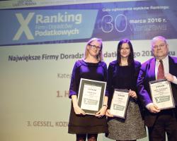 Axon Tax zdobył wyróżnienie w X Rankingu Firm i Doradców Podatkowych Dziennika Gazety Prawnej
